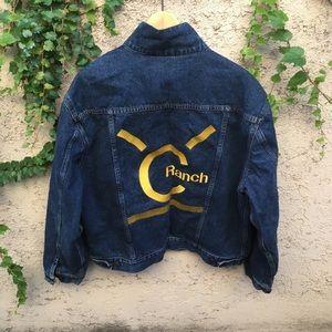 GAP Flannel Lined Denim Rancher Jacket